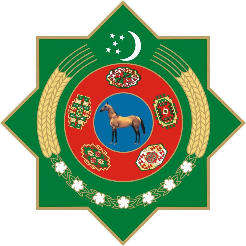 Ахалтекинская лошадь, герб Туркмении